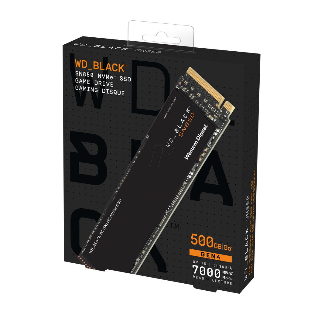 SSD 500Gb M.2 NVME PCIe Gen4 x4 WD Black SN850