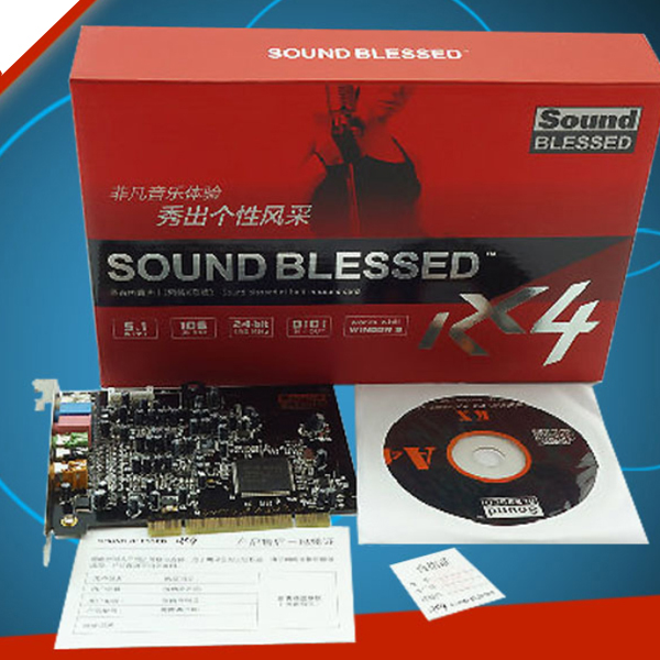 Sound Card BLESSED 7.1 SB0610 PCI (support Win XP/7)