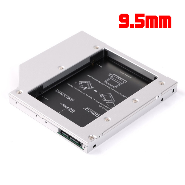 Tray DVD to HDD/SSD 9.5mm for Notebook