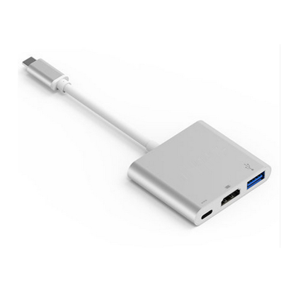 Type-C to HDMI+Type-C+1USB 3.0