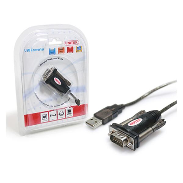 USB(2.0) to RS232 (DB9M + DB25M) Unitek Y-105A