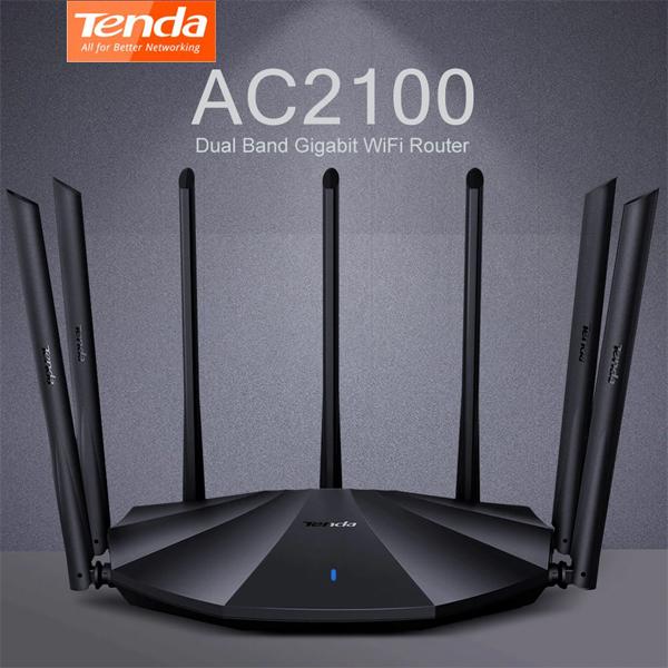 Wireless Router AC2100 Tenda AC23 (7*6dBi Antena, 1WAN - 3LAN Gigabit)